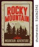 vintage vector of wilderness...   Shutterstock .eps vector #516362542
