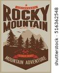 vintage vector of wilderness... | Shutterstock .eps vector #516362548