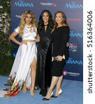 Small photo of Simone Alexandra Johnson, Dany Garcia and Dinah Jane Hansen at the AFI FEST 2016 Premiere of 'Moana' held at the El Capitan Theatre in Hollywood, USA on November 14, 2016.