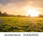 northern ireland farm sunset | Shutterstock . vector #516365032