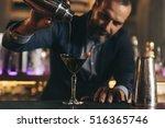 expert barman is making... | Shutterstock . vector #516365746