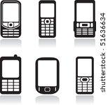 mobile phones set. vector...   Shutterstock .eps vector #51636634