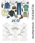 fashion illustration.calendar... | Shutterstock .eps vector #516366736