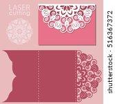 laser cut wedding invitation... | Shutterstock .eps vector #516367372