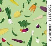 various vegetables   vector... | Shutterstock .eps vector #516373072