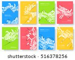 abstract vector brochure cards... | Shutterstock .eps vector #516378256