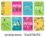 animal vector brochure cards... | Shutterstock .eps vector #516378292