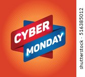 cyber monday arrow tag sign. | Shutterstock .eps vector #516385012