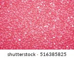 Sequins On Fabric  Pink Beads ...