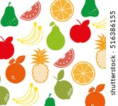 fruit salad plate isolated icon | Shutterstock .eps vector #516386155