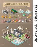Isometric World. Set Of...