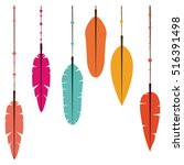 isolated feather plume design | Shutterstock .eps vector #516391498