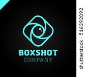color square camera shutter... | Shutterstock .eps vector #516392092