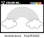 worksheet   coloring page... | Shutterstock .eps vector #516392602