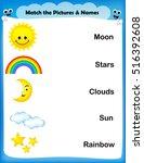 worksheet   match weather... | Shutterstock .eps vector #516392608