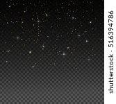 vector gold glitter particles... | Shutterstock .eps vector #516394786
