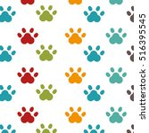 foot print animal isolated icon | Shutterstock .eps vector #516395545