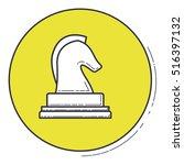chess inside green button design   Shutterstock .eps vector #516397132