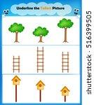 worksheet   underline the... | Shutterstock .eps vector #516399505