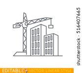 construction of new buildings.... | Shutterstock .eps vector #516407665