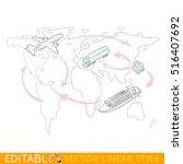 sketch infographics of...   Shutterstock .eps vector #516407692