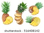 collection of pineapples... | Shutterstock . vector #516408142