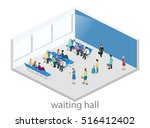 isometric flat 3d concept... | Shutterstock .eps vector #516412402