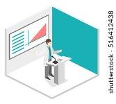 isometric flat 3d concept... | Shutterstock .eps vector #516412438