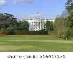 the white house in washington... | Shutterstock . vector #516413575