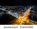 night view of the crossroad... | Shutterstock . vector #516414082
