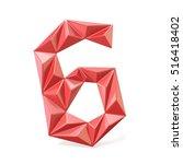 Red Modern Triangular Font...