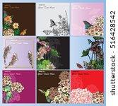vector set koi  birds ... | Shutterstock .eps vector #516428542