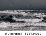 Baltic Sea In Stormy Weather....