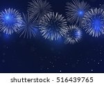 brightly colorful fireworks on...   Shutterstock .eps vector #516439765