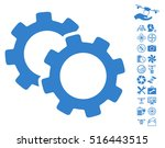 gears pictograph with bonus... | Shutterstock .eps vector #516443515