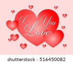 i love you in red heart | Shutterstock .eps vector #516450082