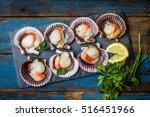 Seafood. Shellfish. Raw...