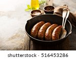homemade sausage with italian... | Shutterstock . vector #516453286