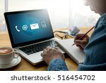 contact us  customer support... | Shutterstock . vector #516454702