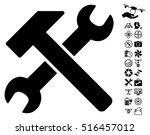 hammer and wrench icon with... | Shutterstock .eps vector #516457012