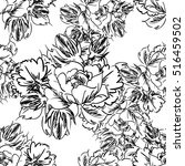 abstract elegance seamless... | Shutterstock . vector #516459502