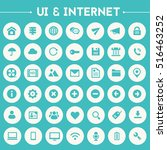 big ui and internet icon set | Shutterstock .eps vector #516463252