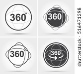 360 degrees view sign icon | Shutterstock .eps vector #516471298