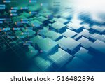 block chain network and... | Shutterstock . vector #516482896