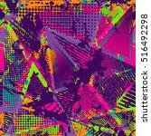 abstract urban seamless pattern.... | Shutterstock . vector #516492298