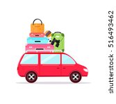 travel car concept tourism and... | Shutterstock .eps vector #516493462