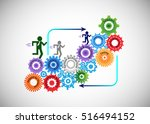 concept of software development ... | Shutterstock .eps vector #516494152