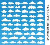 fluffy clouds icon set design... | Shutterstock .eps vector #516494758