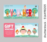 gift voucher template with... | Shutterstock .eps vector #516498205