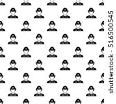 firefighter pattern. simple... | Shutterstock .eps vector #516500545
